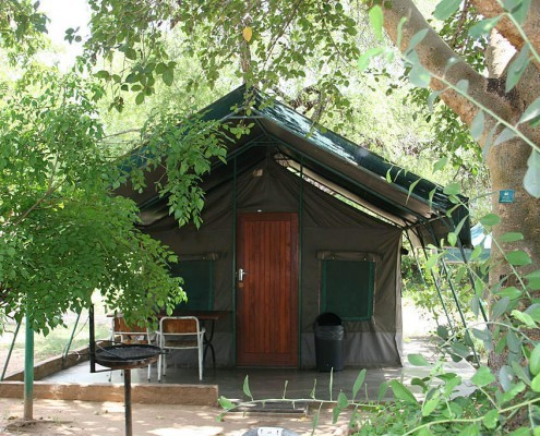 Kruger Park tours in a cottage tent